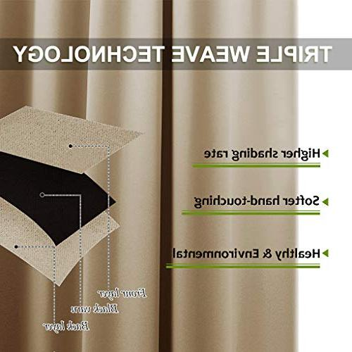 NICETOWN Thermal Insulated Eyelet Top for Bedroom
