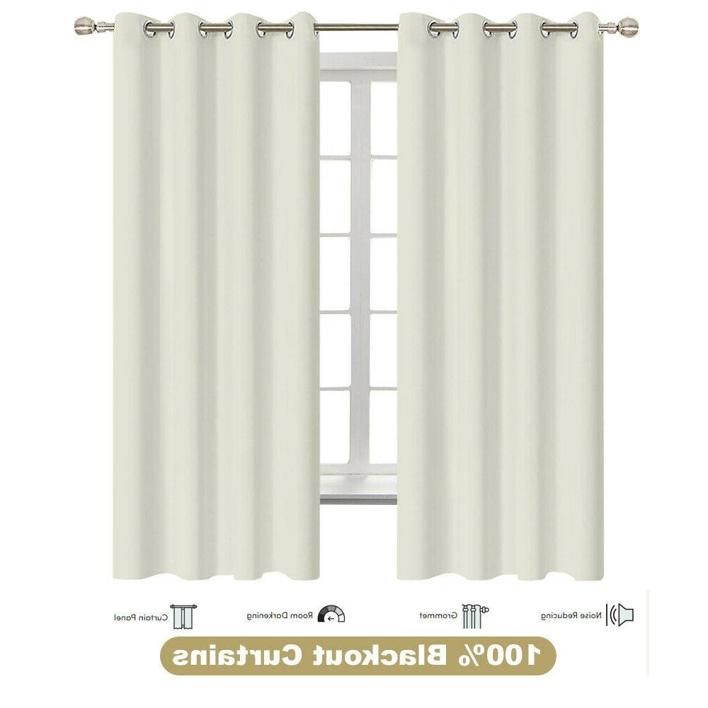 thermal insulated grommet blackout 2 panel curtain