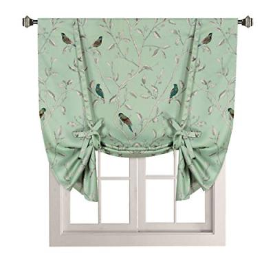 thermal insulated printed blackout small window curtain