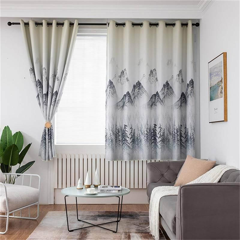 Thick Wavy Striped Curtains Curtains Decoration