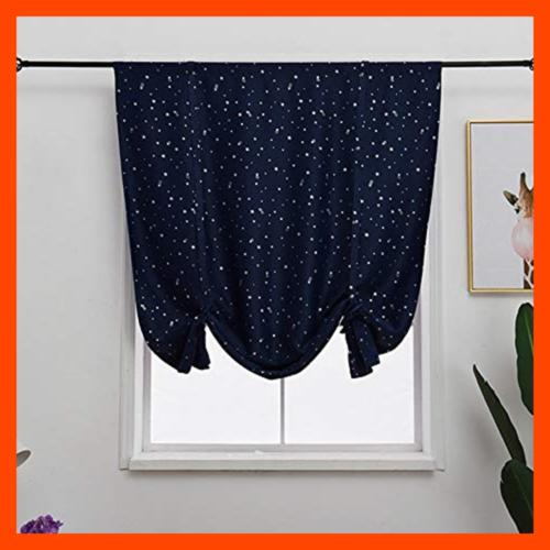 Tie Satr SMALL Kitchen Curtains Room D