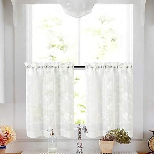 Tier Curtains White 36 Inch Length Kitchen Cafe