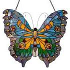 "River of Goods 20.5"" H Stained Glass Swallowtail Butterfly W"