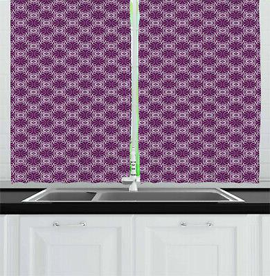 traditional vibes kitchen curtains 2 panel set