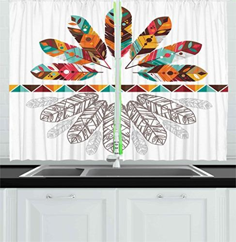 tribal kitchen curtains