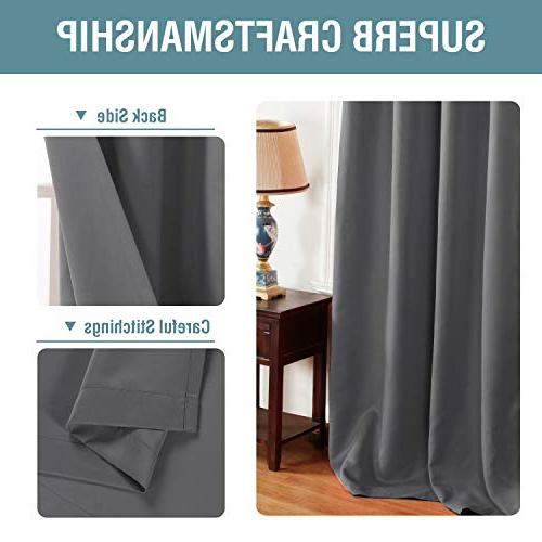 H.VERSAILTEX Curtains Gray Drapes Room for Living Curtains for - 1 Panel
