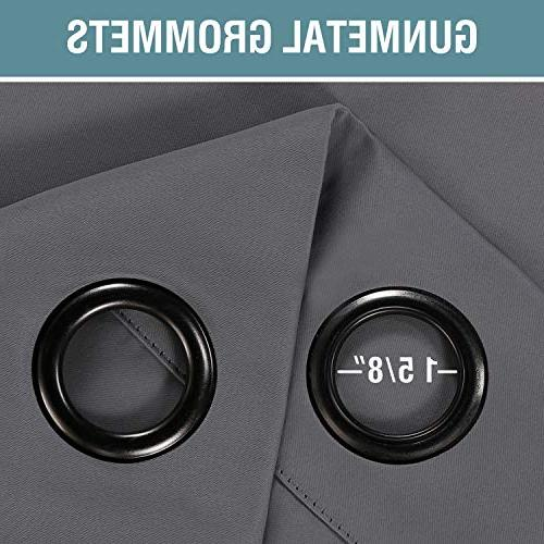 Curtains Gray Curtain Panel Drapes Blackout Room Darkening for Living Curtains - - Panel