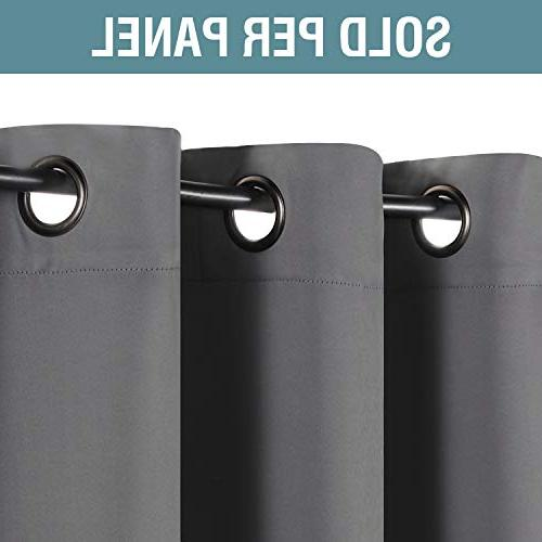 H.VERSAILTEX Curtains Gray Curtain Drapes for Room, Curtains for Door/Window -