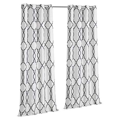 Regal Pack Jacquard Atlee Grommet Room Thermal Shabby Curtain - Assorted Sizes