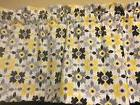 Valance Ikat Flower Floral Gray Yellow White Kitchen  Window