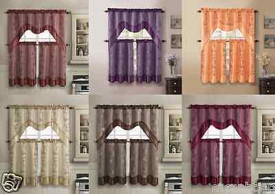 VCNY Daphne Embroidered Curtain - Assorted Colors