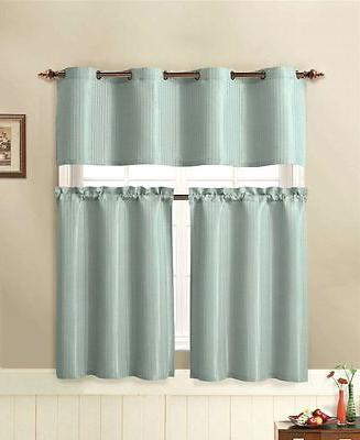 VCNY Tyra Pc. Kitchen Curtain Tier & Valance Assorted