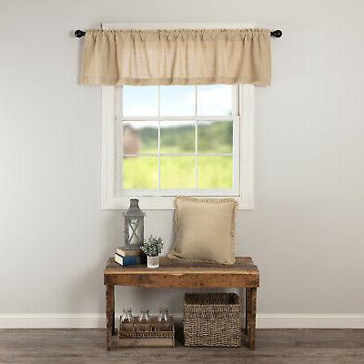 VHC Chocolate Curtains Pocket