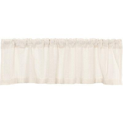 VHC Valance Burlap Chocolate Pocket Cotton