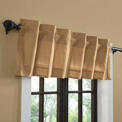 VHC Primitive Bathroom Curtains Tan Kindred