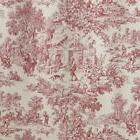 Victoria Park Toile 68-Inch-by-24 Inch Tailored Tier Curtain