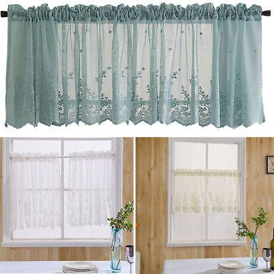 US Kitchen Cafe Floral Mesh Curtain Window Fresh Curtain Sho