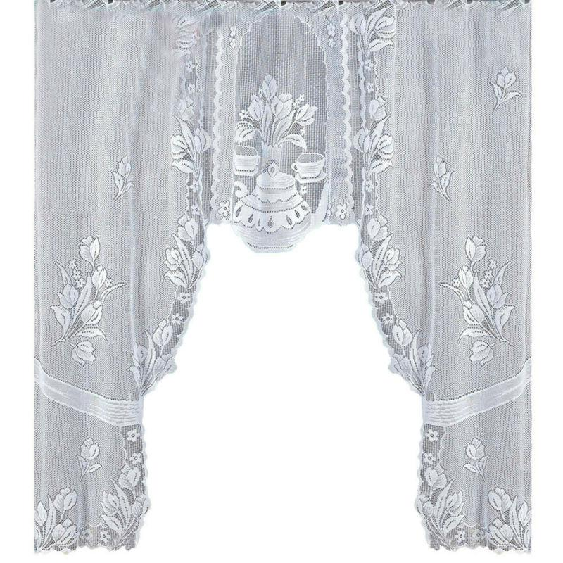 Vintage Style Lace Coffee Curtain Kitchen Curtain Vintage St