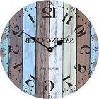 "Vintage Wall Clock 12"" Rustic Shabby Chic Wooden Home Decor"