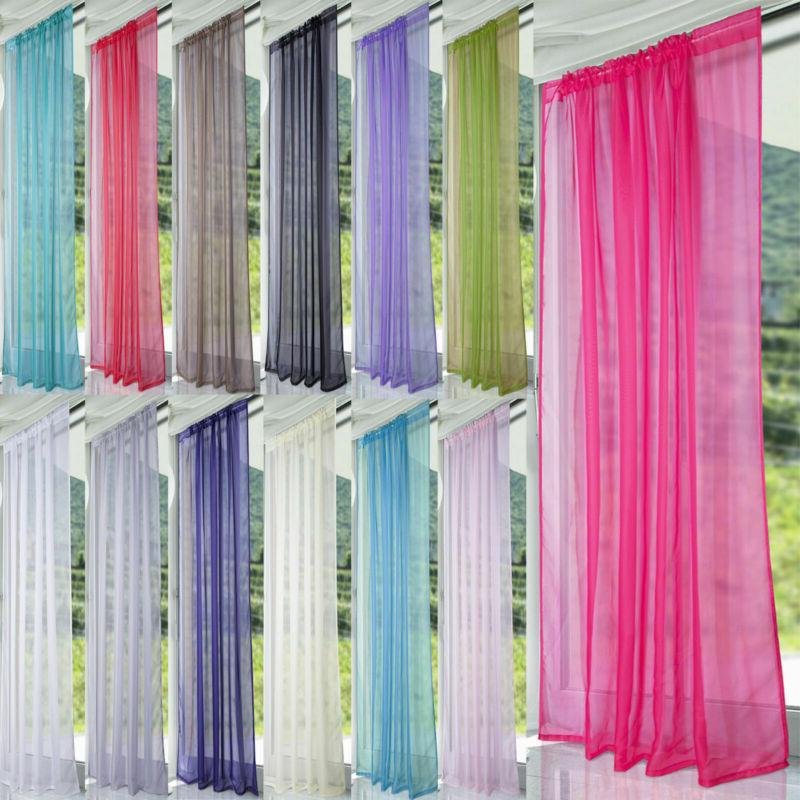 voile sheer window curtains scarf door room