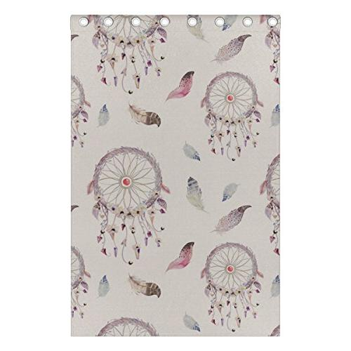 ALIREA And Feather Pattern Polyester Curtain for Bedroom, Room,2