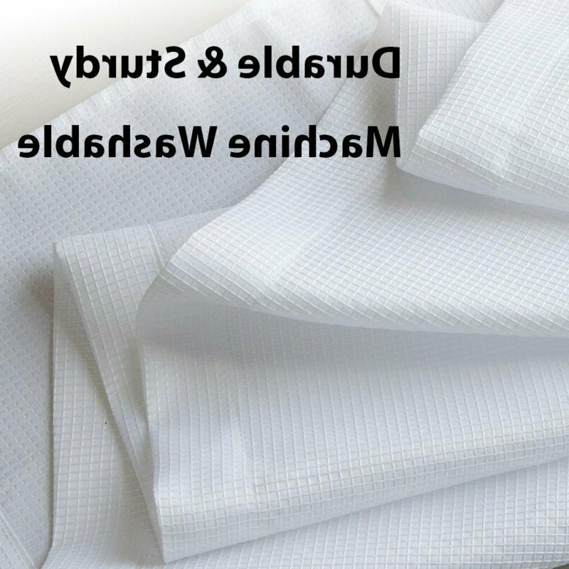 White 45 inch Long Casual Window Curtain Set 2 Panels