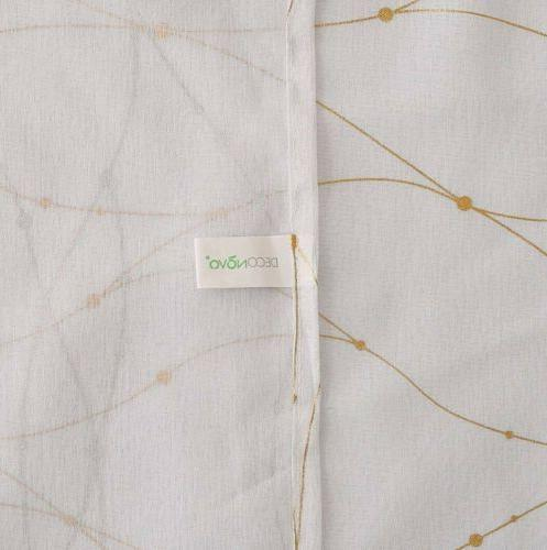 Deconovo 63 Pocket Sheer Gold Voile with