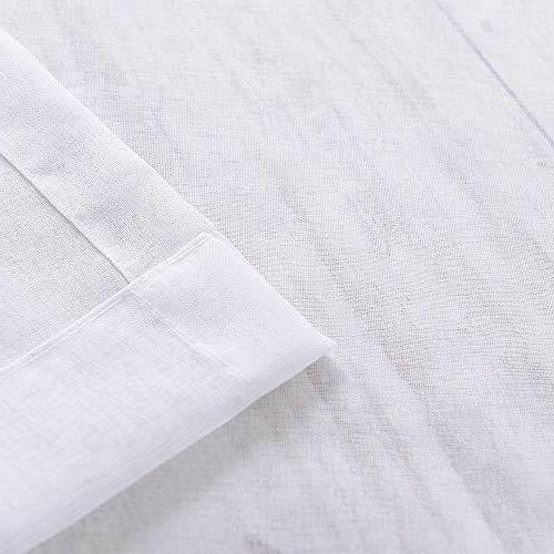 White Sheer Curtains Rod Pocket Sheer Voile Window
