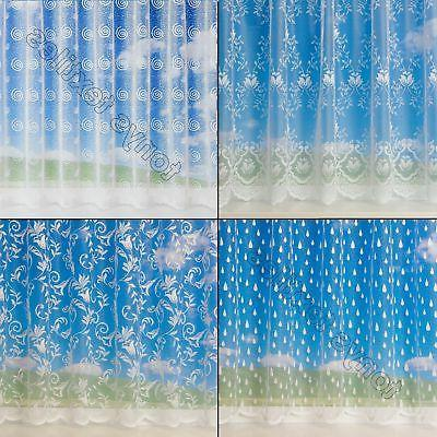 white sheer window net curtain sold by