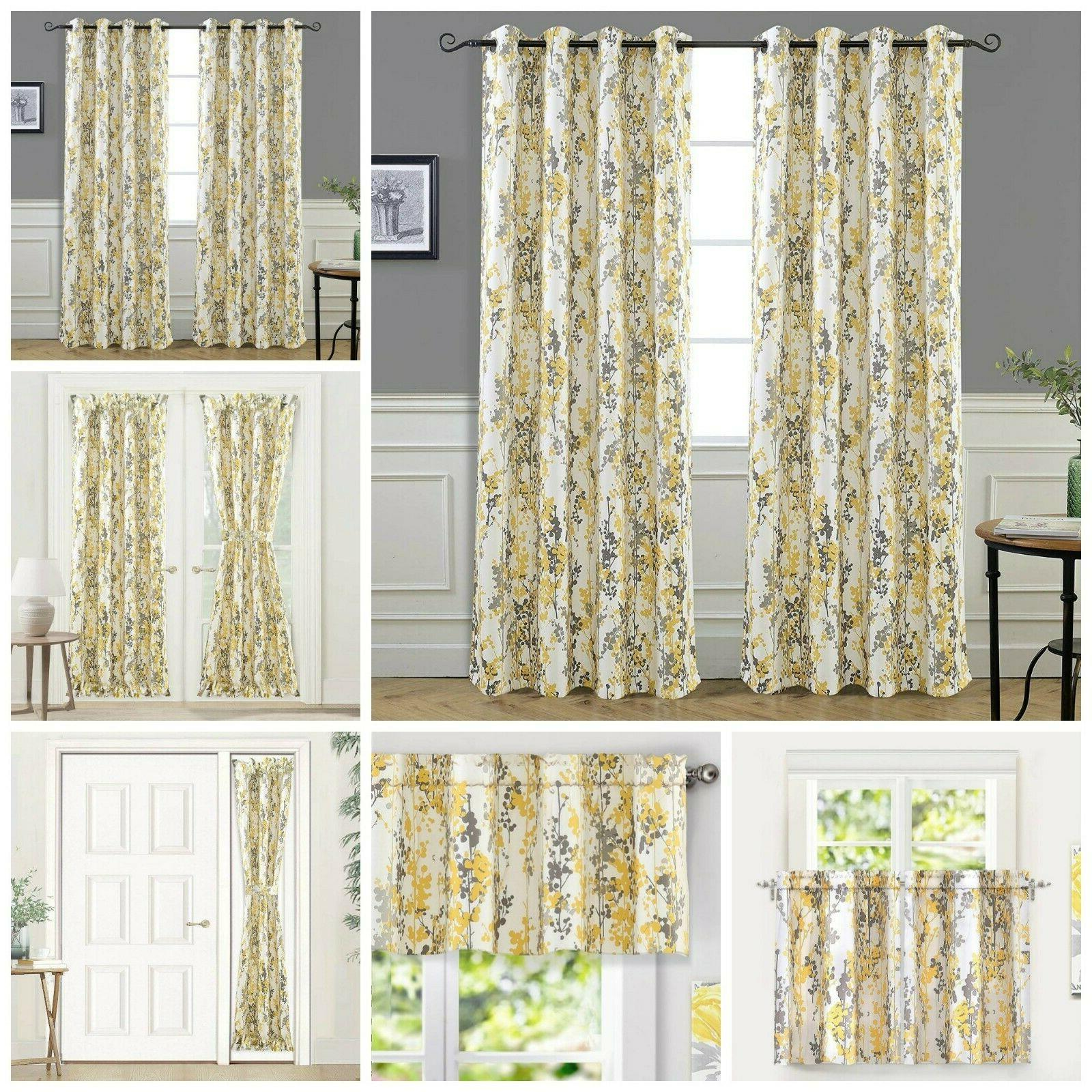 Window Curtain Floral Blossom Kitchen Living Room Bedroom Cu
