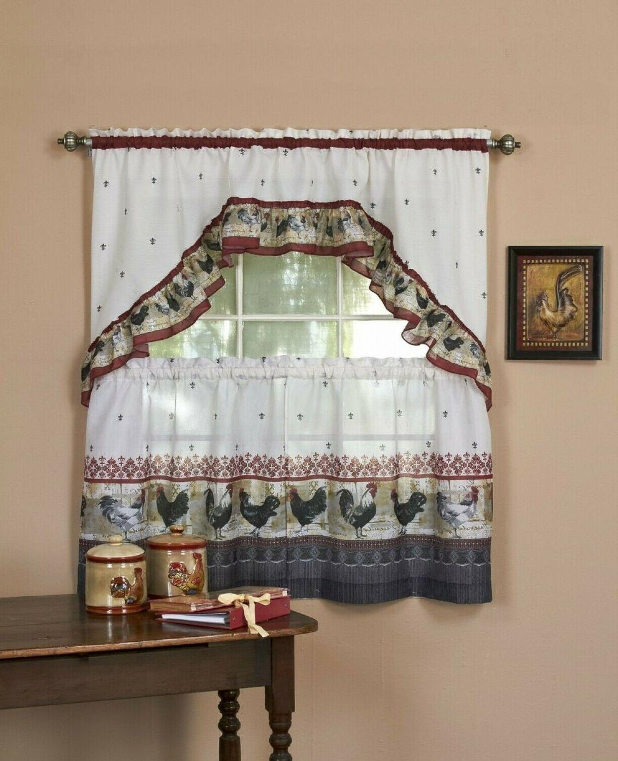 window curtain tier swag with valance country