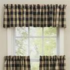 Window Curtain Valance - Wicklow in Black by Park Designs -