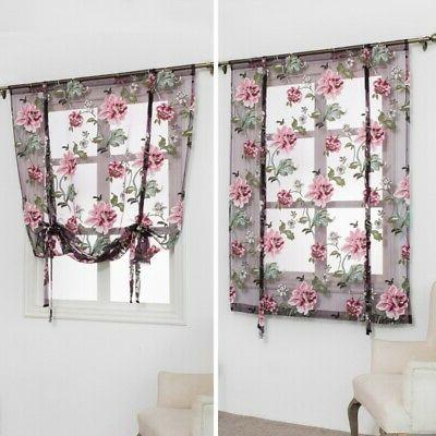 Kitchen Roman Curtains Tulle Rod Valances