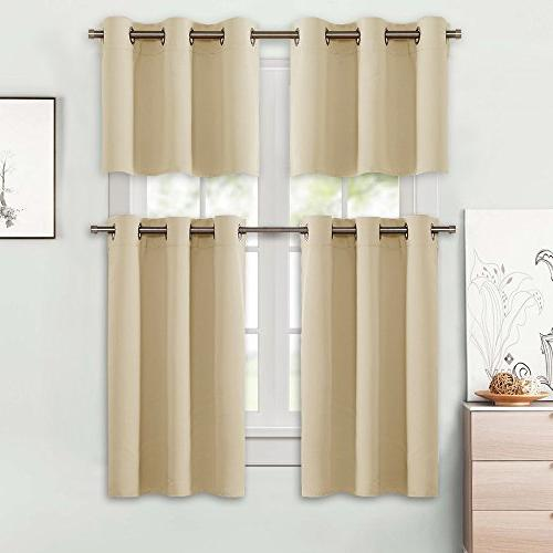 NICETOWN Darkening Valances Thermal Window Curtains/Drapes