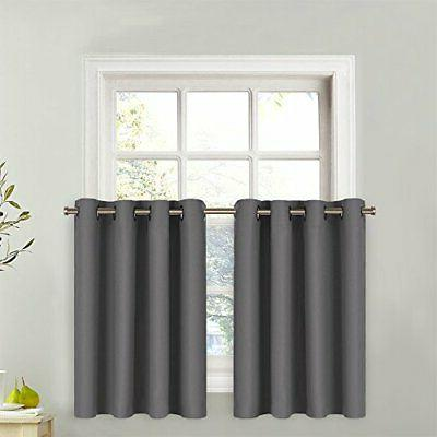 window valance for kitchen thermal insulated grommet