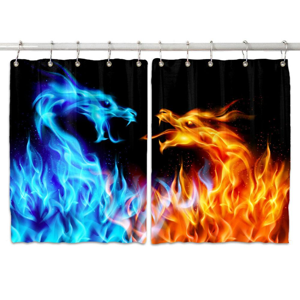 Ice and Window Curtain Kitchen Curtains 2 Panels,