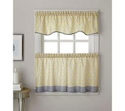 "CHF Leanne Morocco Window Treatment Gold 58x36"" Tier"