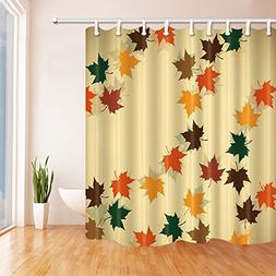 NYMB Leaves Decor, Colored Maple Leaves Fall Down in Autumn