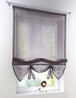Uphome 1pcs Liftable Organza Kitchen Balcony Curtains - Tie-