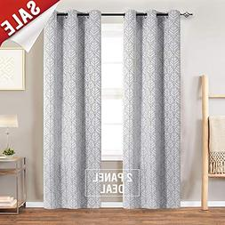 Light Filtering Curtains for Windows Jacquard Curtain Panels