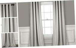 light gray curtains grommet panel with insulated
