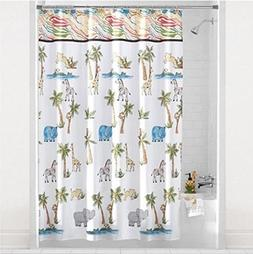 Saturday Knight Limited Safari Animal 72 x 70 Inch Shower Cu