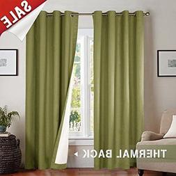 jinchan Lined Thermal Blackout Curtains for Bedroom, Forest