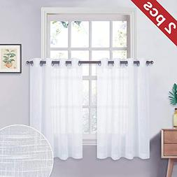 NICETOWN Sheer Curtains Window Valances - Translucent Drapes