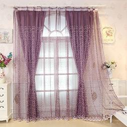 Living curtains bedroom decorative double layer drapes shade