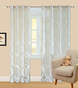 84 inch Long x 51 inch Wide Sheer Curtains Window Drapes Gro