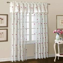 United Curtain Loretta Embroidered Voile Curtain Panel