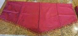 Lot of 4 Kitchen Curtains Triangle Silk Blend Cotton Lined V