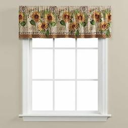 "Saturday Knight Ltd Tuscan Sunflowers Valance With 1.5"" Rod,"