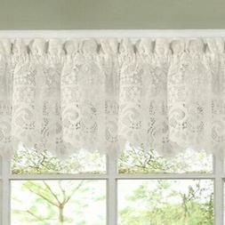 Luxurious Old World Style Lace Kitchen Curtains- Tiers and V